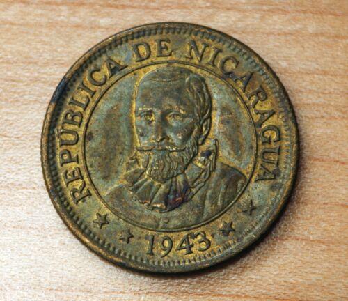 1943 Nicaragua 25 Centavos