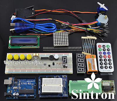 [Sintron] UNO R3 Upgrade Kit with Motor LCD Servo Module for Arduino AVR Starter