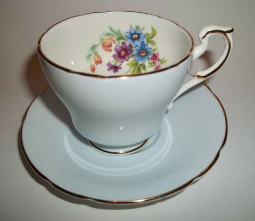 Paragon DEMITASSE CUP AND SAUCER Blue Floral