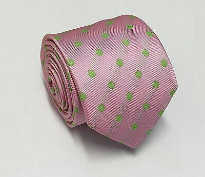Horse Racing Tie - Pink and Green Polkadot