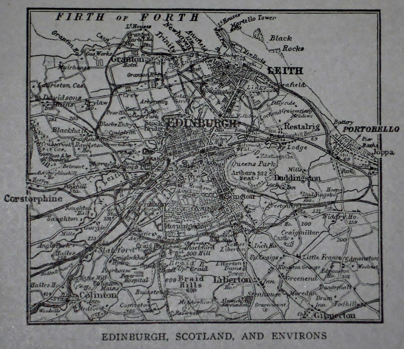 Lk sm antique 1917 world atlas maps of dundee edinburgh 6 of 12 lk sm antique 1917 world atlas maps of dundee edinburgh scotland gumiabroncs Image collections