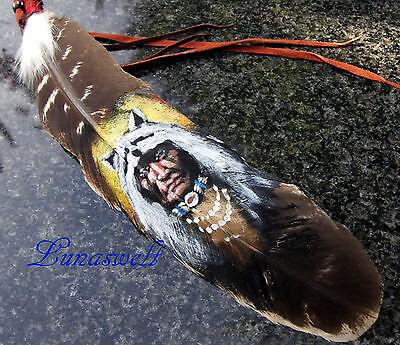 Indianerfedern handbemalt super Motive 1