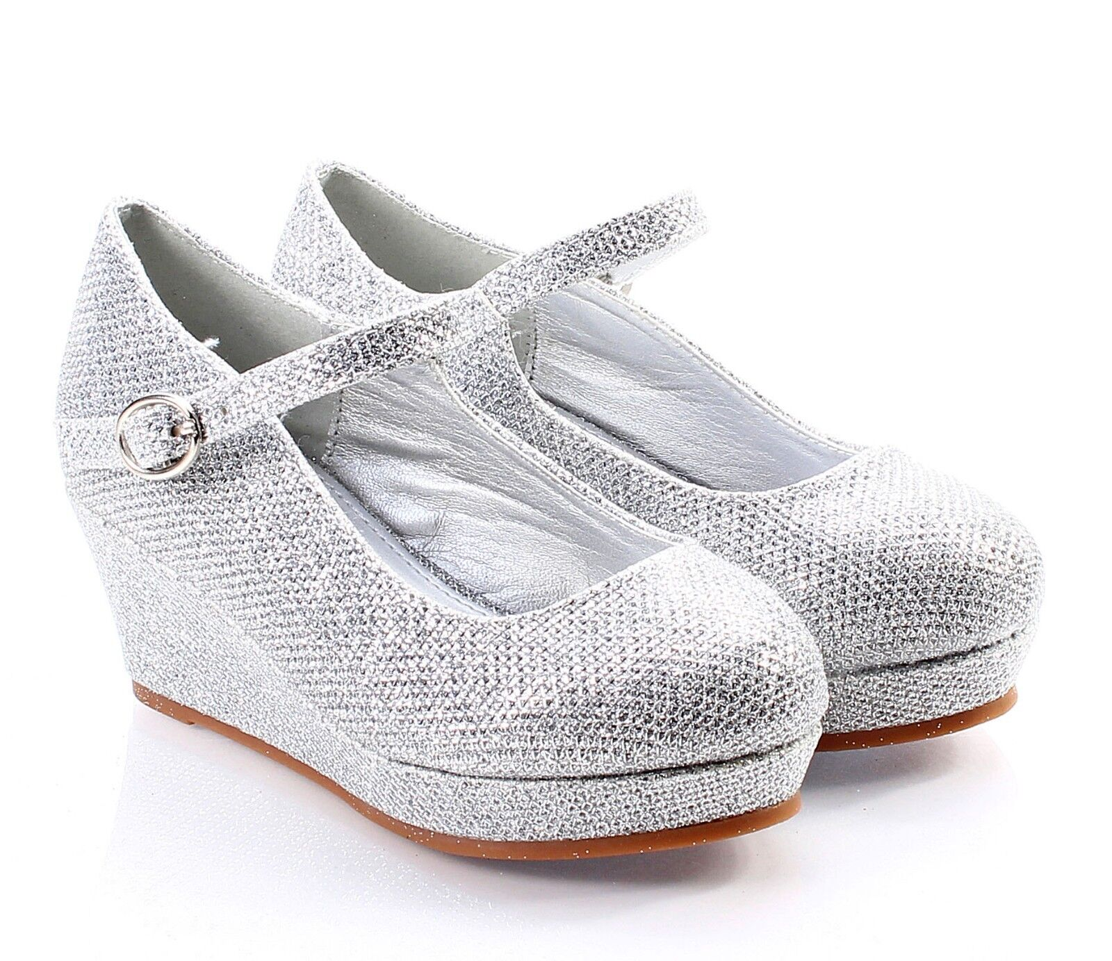 5 color glitter wedge heels youth