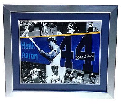 Hank Aaron signed 16x20 framed photo 715 HR braves MINT autograph Steiner COA