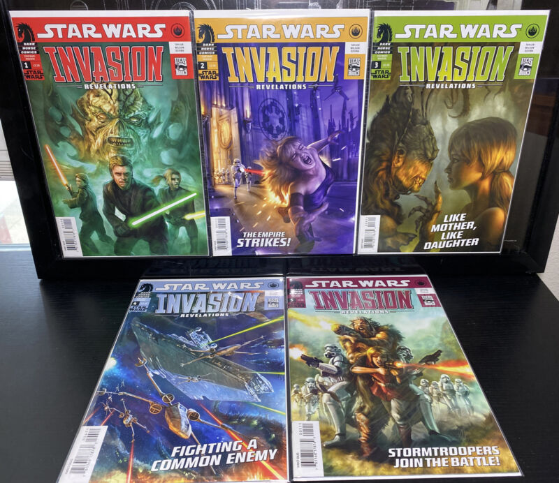 Dark Horse STAR WARS : INVASION : REVELATIONS #1 2 3 4 & 5 Full Set NM