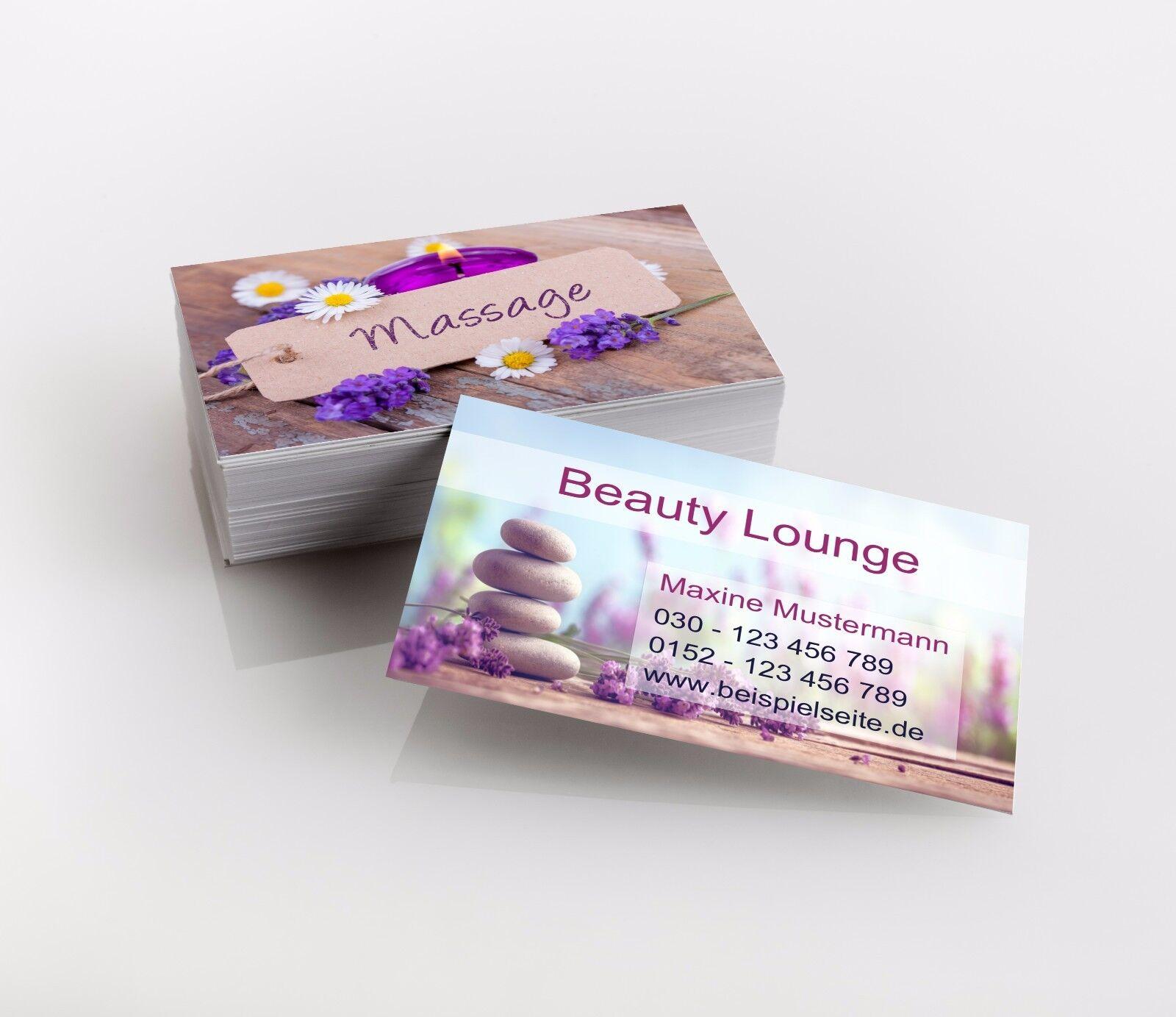 1.000 Visitenkarten, Beauty, Massage, Premiumqualität, direkt hier gestalten