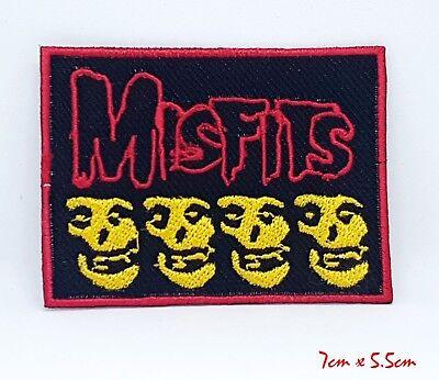 Misfits Rock Band Heavy Metal Calavera Coser Hierro en Parche Bordado #999