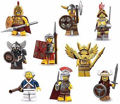 LEGO Minifigures Set 9 Warriors/Soldiers - Spartan+Roman+Dwarf+Conquistador+MORE