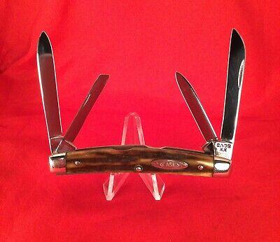 Vintage Case xx 54052 stag congress pocket knife 1940-64 rare old antique knife.
