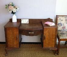 Solid Antique Dresser/Dressing Table or Study Desk - 7 Drawers Bexley Rockdale Area Preview