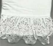 White Eyelet Pillow Shams