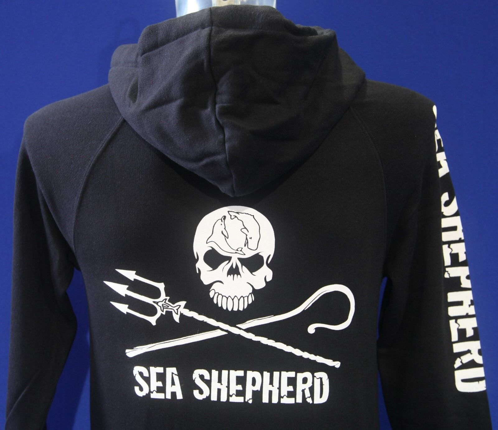 unisex hoodie jolly roger zip or pullover sea shepherd black grey ebay. Black Bedroom Furniture Sets. Home Design Ideas