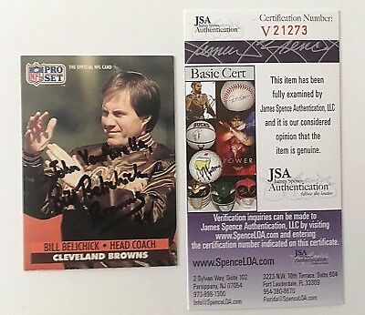 Bill Belichick Signed Autographed 1991 Pro Set Rookie Card  125 Jsa Certified