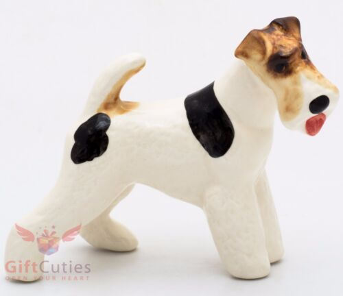 Porcelain Figurine of the Fox Terrier dog