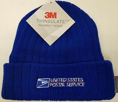 USPS Embroidered POSTAL BEANIE/ ROYAL BLUE Cuffed BEANIE / FREE SHIPPING