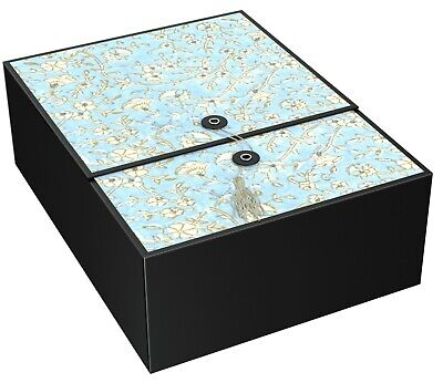 Large Gift Box Blue Agra 12x9x4 Includes Gift Card Envelope & Tissue Paper -