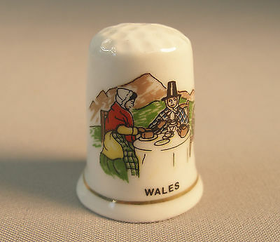 "Thimble by Exquisite ""Wales"" Fine Bone China Vintage Rare Collectible 1"" tall"