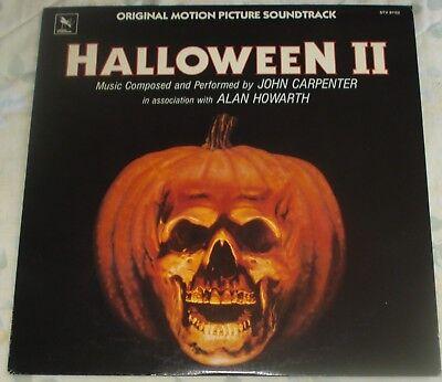 HALLOWEEN 2 (John Carpenter) rare original mint stereo lp (1981) no bar code ()