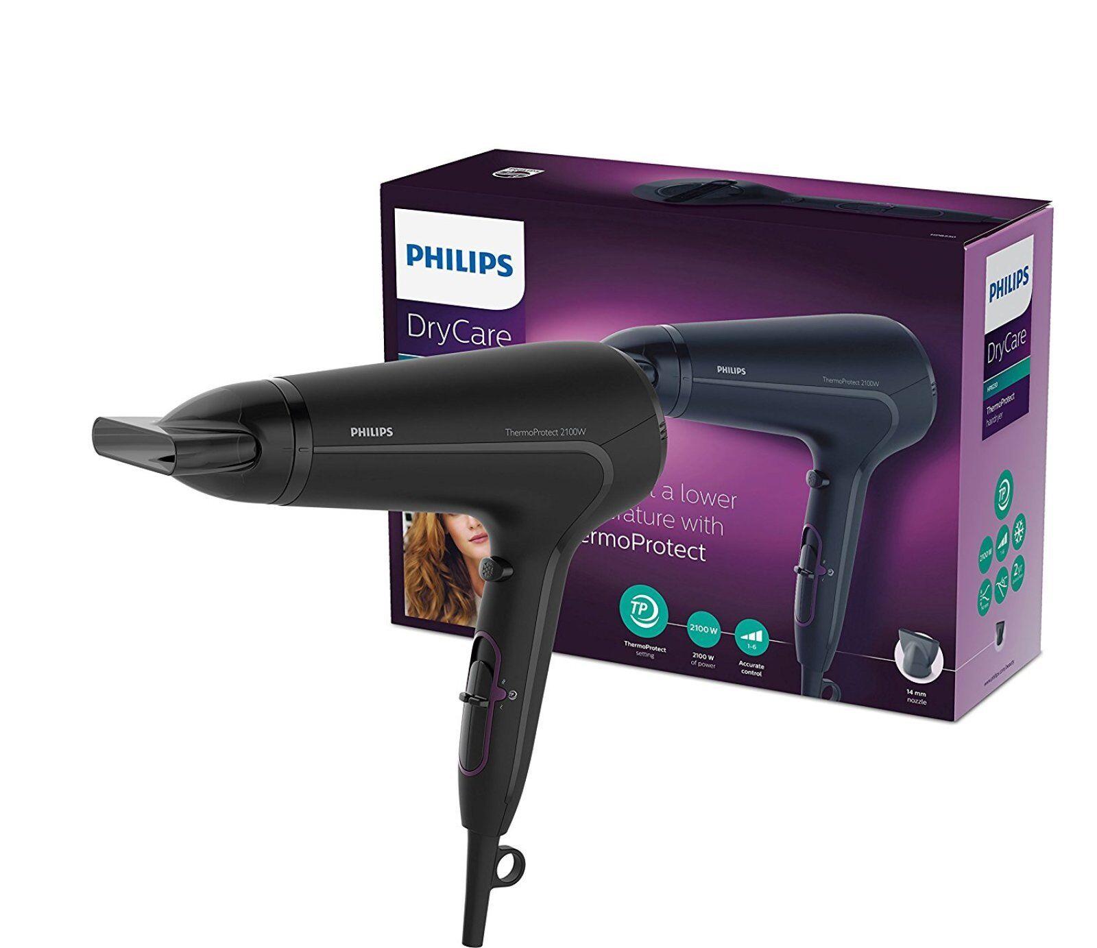Philips HP8230/00 ThermoProtect Asciugacapelli, 2100 W, Nero Proteggi i capelli