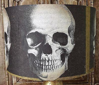 Gothic Skull Lamp shade 2,lampshade Halloween Black and gold Free Gift - Halloween Lamp Shades