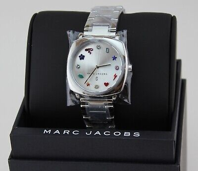 NEW AUTHENTIC MARC JACOBS MANDY SILVER WOMEN'S LADIES MJ3548 WATCH