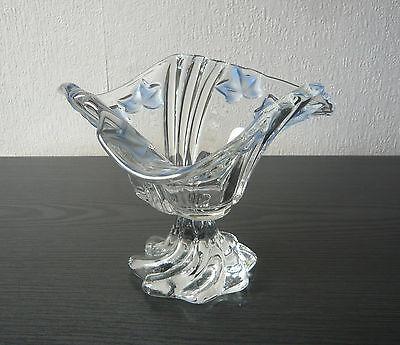 Glasschale Gebäckschale Konfektschale Fußschale Schale Böhmisches Glas