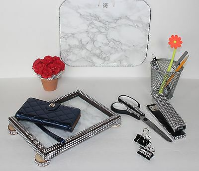 Set Of 7 Bling Office Desk Accessories Desktop Accessories Dorm Room Desk Set