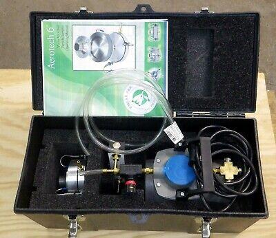 Aerotech Z-a6 Microbial Mold Air Sampler Vacuum Pump Reg Flow Meter Case