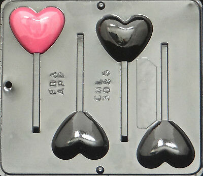 Heart Pop Lollipop Chocolate Candy Mold Valentine 3055 NEW