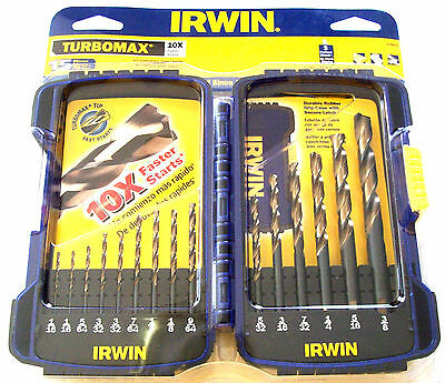 15pc IRWIN TURBOMAX 10X DRILL BIT SET ...