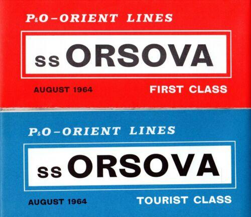 P&O-Orient ORSOVA First & Tourist Plans w/ Interiors - NAUTIQUES sHiPs WORLDWIDE