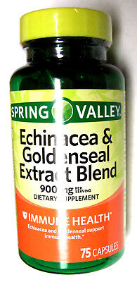 Spring Valley Echinacea & Goldenseal Blend PIlls 450Mg Per Capsule 75 Ct.