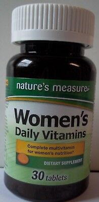 BEST DEAL Nature's Measure Women's Daily Vitamins Minerals with Iron, 30