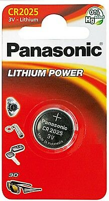 3 x Panasonic CR2025 3V 165mAh Lithium Power Knopfzelle Blister    (Panasonic Cr2025)