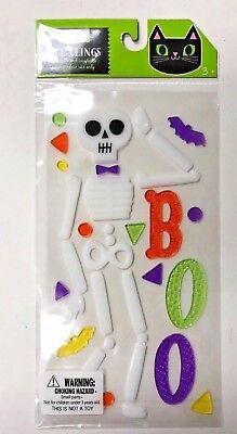 Halloween Skeleton Window Gel Stickers Cling Decor classroom bats - Window Gel Clings Halloween