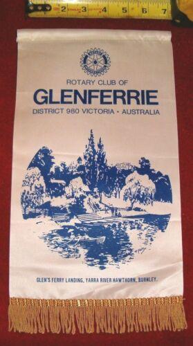 VINTAGE Rotary International Club wall banner flag  GLENFERRIE   AUSTRALIA