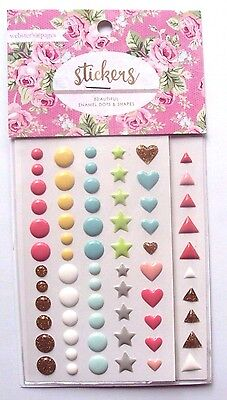 Beautiful Shapes - Webster's Pages Stickers Beautiful Enamel Dots & Shapes - NEW