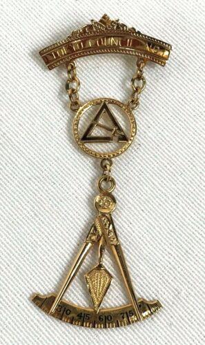 1967 Masonic Tokyo Counsel 10K Gold Named Medal