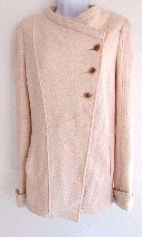 Free People Coat Jacket Wool Peach Women's Size 0