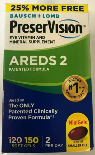 Bausch+Lomb PreserVision AREDS 2 Formula 150 softgels, EXP 09/2021