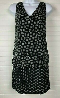 Lauren Ralph Lauren NEW Petite Size 2P Black White Printed Layered Dress NWT