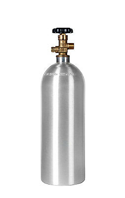 Homebrewed Draft Beer 5 lb. CO2 Cylinder New Aluminum CGA320 - Fresh Hydro Date