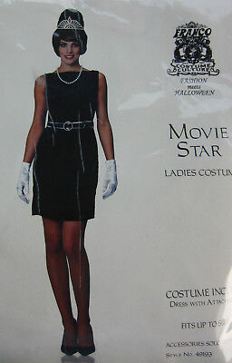 NEW Movie Star Black Dress Belt  White Gloves Costume Halloween Girls to size 12](Movie Star Girls Costume)