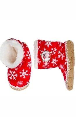 New Kids Elf On The Shelf Slipper Socks Size S/M 8-13 Style 036160494 Red/White