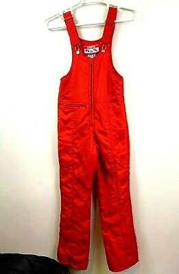 Down East Ski Skiing Overalls Vintage 70's Nylon Women's Snow Pants Juniors M](70's Women's Jumpsuits)