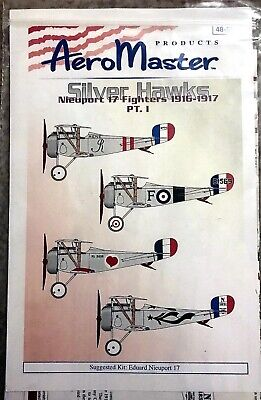 AeroMasters 1/48 Nieuport 17 Fighters 1916-1917 Part 1 Decal Set 48-504