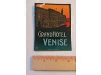 "#4747 Venice Italy Venezia Vintage Tag Phone 1x4/"" Luggage Label Decal Sticker"