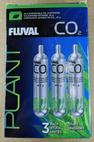 Fluval Plant Disposable Co2 Cartridges 45g (3 Pack) Aquarium - NEW
