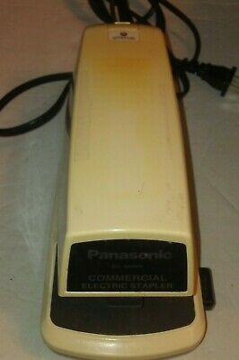 Panasonic Commercial As-300nn Electric Stapler W Adj Depth Tested Free Shipping