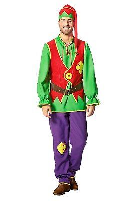 Buntes Kobold Herrenkostüm NEU - Herren Karneval Fasching Verkleidung Kostüm ()